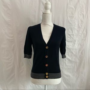 Juicy Couture Black Short Sleeve Cardigan
